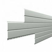 Сайдинг наружный металлический МеталлПрофиль Lбрус Белый алюминий 6м (Colorcoat Prisma, 0,5мм, глянец.)