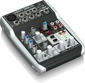 Behringer Q502USB Компактный малошумящий микшерный пульт (5 входов, 2 шины, компрессор, USB аудио интерфейс)