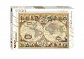 """Пазл Step Puzzle """"Историческая карта мира"""" 2000 арт. 84003"""