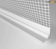 Профиль примыкания к проемам ПВХ 6 мм с армирующей сеткой и манжетой, 2.4м, шт.