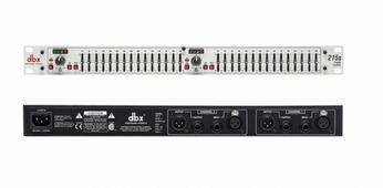 """dbx 215S графический эквалайзер, 2-канальный, 2/3 октавный с постоянной добротностью, 15-полосный. Высота 1U. Вх/вых - XLR, 1/4"""" TRS"""