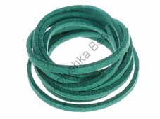 Шнур замшевый зеленый, 2.5×1.5 мм, 1 метр