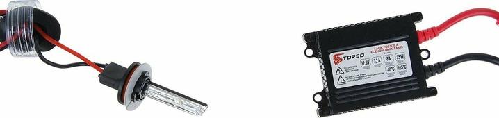 Комплект ксеноновых ламп Torso, блок розжига DC Slim, 35 Вт, 12 В, цоколь H9, 5000 К. 1059414