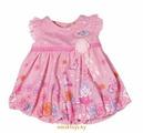"""Одежда для куклы """"Беби Бон"""" - Розовое платье с цветами Zapf Сreation 822111"""