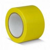 Лента для разметки самоклеящаяся Vell длина 33 м, ширина 50 мм, желтая, 0,15 мм, ПВХ (Standart) {KMSG05033}