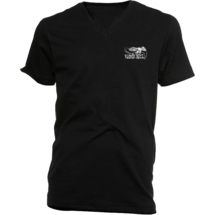 Ernie Ball 4637 футболка. Черный цвет/V Ворот/Маленькое лого орел EB слева на груди/Размер XL