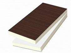 Сэндвич-панель ПВХ Stadur 1,5/24мм, 3050x1300мм, двухсторонняя, махагон/белая