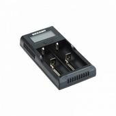 Универсальное зарядное устройство Rexant i2 для 2-х АКБ с жк дисплеем {18-2239}