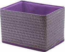 """Короб для хранения """"Handy Home"""", складной, без крышки, цвет: лиловый, 21 х 15 х 15 см"""