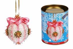 """Новогодний шар из пайеток """"Нежность"""", розовый, набор для творчества (Волшебная мастерская)"""