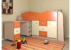Детская Бемби Люкс (белфорт, ваниль-оранжевый глянец)