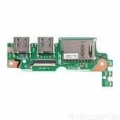 Плата для ноутбука Asus X455LN iO BD REV 2.1 с USB и cardreader слотом