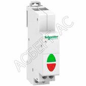iIL Индикаторная лампа с 2 светодиодами красный/зелёный на DIN-рейку 230В AC Schneider Electric, A9E18325