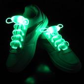 Светящиеся шнурки Baziator с LED подсветкой зеленые
