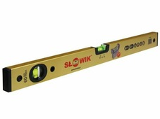 Уровень 1000 мм 2 глаз. брусковый, золото PN01 SLOWIK (быт.) (650 гр/м 0.30 мм/м)
