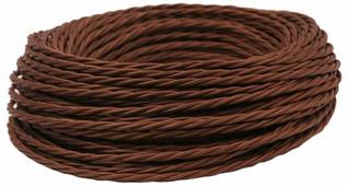 Ретро кабель витой электрический (50м) 2*0.75, коричневый, ПРВ2075-КРЧ Panorama
