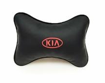 """Подушка на подголовник Auto Premium """"Kia"""", цвет: черный. 37015"""