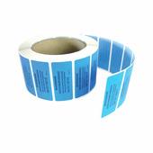 Пломба-наклейка номерная 66*22мм цвет синий 1000 шт/рул Новейшие технологии 30005
