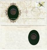 Серия «Великие исторические монеты мира» - Индия, правление династии Чола 10-11 вв (монета и 1 марка в конверте) P260423