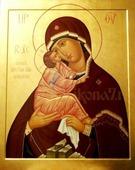 Почаевская икона БМ (рукописная икона). Серия: ИК, Размер (см): 17х21 (Иконы Богородицы)