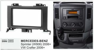 Переходная рамка для установки магнитолы Incar RMB-N08 - Переходная рамка MERCEDES-BENZ Sprinter (W906) 2006+ / VW Crafter 2006+