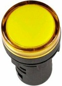 IEK Лампа сигнальная AD16DS LED матрица d16мм желтая 230В AC (BLS10-ADDS-230-K05-16)
