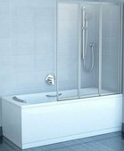 Шторка на ванну Ravak VS3 100 полистирол satin+Rain