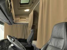 Комплект автоштор Эскар Blackout - auto XLK, абрикосовый, 2 шторы 240 х 100 см, 2 шторы 120 х 160 см, 2 подхвата, 2 гибких карниза 3 + 5 м