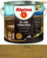 Масло для террас Alpina Oel fuer Terrassen, Средний 2,5 л / 2,5 кг