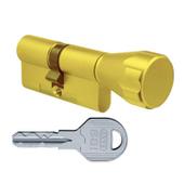 Цилиндровый механизм EVVA ICS ключ-вертушка латунь 36x36