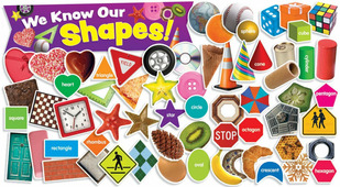 We Know Our Shapes - mini bulletin boards (49 pieces)