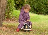 Дождевик летний детский Hippychick (фиолетовый)