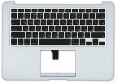 Клавиатура для ноутбука Apple A1369 2010+ черная без подсветки плоский ENTER топ-панель
