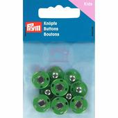 Кнопки пришивные латунь 14 мм 5 шт зеленый Prym 341907