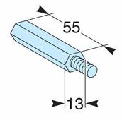 Стойки для реек М6, высота 55мм (4 шт) Schneider Electric, 03197