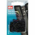 Крючки и петли для курток 9 мм 12 шт черный Prym 261458