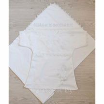 Крестильный комплект арго р.56 Белый/Экрю (арт. Т-053)