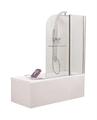Стеклянная душевая шторка для ванны Niagara SS-148120-14 120x140 (хром/прозрачное)
