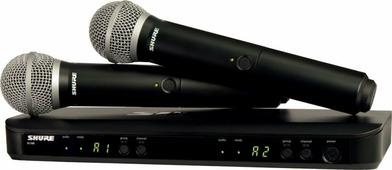 SHURE BLX288E/PG58 M17 662-686 MHz двухканальная радиосистема с двумя ручными передатчиками PG58