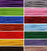 Шнур эластичный, цвет: ассорти, 1 мм, 5,5 м, 14 штук, арт. 0370-0301