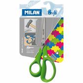 Ножницы MILAN для левши в блистере (зеленые)
