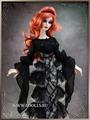 Tonner Shrouded in Darkness Blouse (Черная полупрозрачная блузка для куклы Эванджелин от Тоннер)