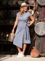 Электронная выкройка Burda - Платье с запахом №124