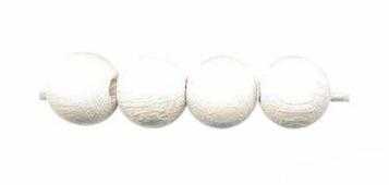Бусины деревянные, цвет: белый, 47 штук, арт. 61654002