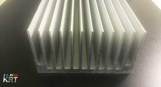 Радиаторный алюминиевый профиль 127х67мм