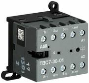 TBC 7-30-01 Миниконтактор 3-х полюсный 12A 77...143В DC ABB, GJL1313061R6012