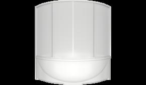Шторка для ванны Bas Империал, Ирис 145x145 полистирол