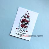 All Write Открытка почтовая Happy valentines day, A6