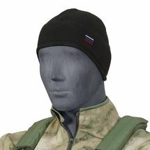 """Шапка """"Stich Profi"""" с флагом с увеличенной ушной зоной (Размер: 56, Цвет: Черный)"""