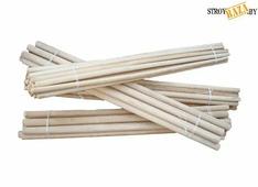 Черенок деревянный для щетки 150СМ диаметр 22мм, шт